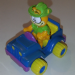 Mc Donalds 1988 Happy Meal Garfield driving 4x4 Jeep